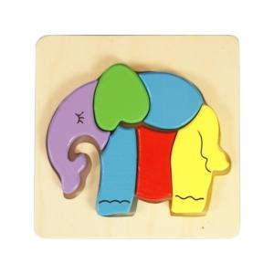 Fa puzzle - elefánt