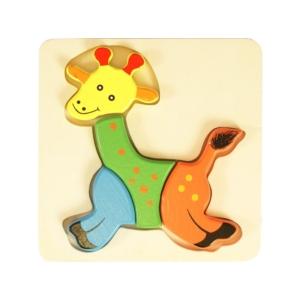 Fa puzzle - zsiráf - számos