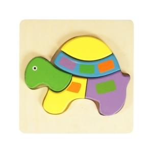 Fa puzzle - teknős