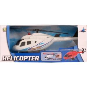 Műanyag felhúzós helikopter - 22 cm, többféle