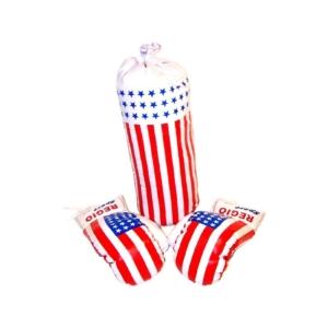Amerikai zászló mintás bokszkészlet -1202-