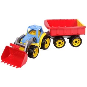 Műanyag traktor utánutóval