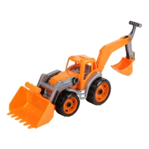 Műanyag traktor markolókkal