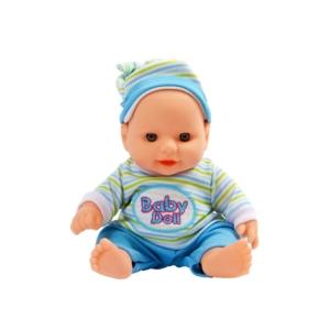 Játékbaba csíkos ruhában - 19 cm, többféle