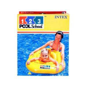 INTEX_RJ - 56587 - Beülős bébi úszógumi sárga, 79 x 79 cm