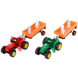 Lendkerekes traktor állatszállító utánfutóval