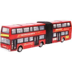 Express emeletes busz - piros, 35 cm -0409A086-