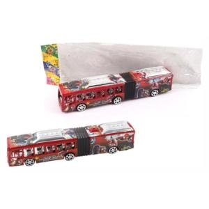 Lendkerekes városi busz - piros, 28 cm