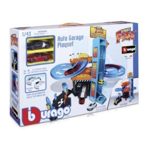 Bburago garázs 2 db kisautóval készlet 1:43