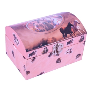 Zenélő doboz, lovas -HOR-017BR-