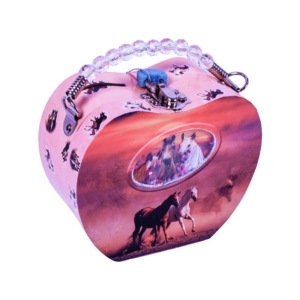 Szív alakú persely, lovas