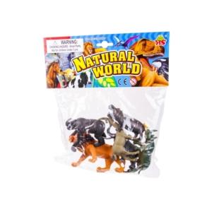 Műanyag állatok 6db/csomag
