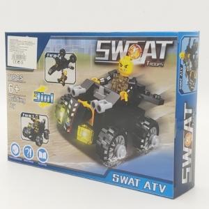 3in1 Építőjáték készlet - Swat ATV