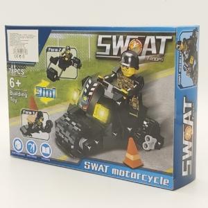3in1 Építőjáték készlet - Swat Motor