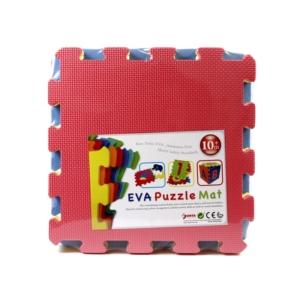 Színes 10 darabos habszivacs szőnyeg puzzle - ST-10 -