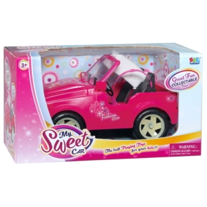 Terepjáró autó játékbabákhoz - rózsaszín