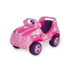 Elektromos rózsaszín kisautó
