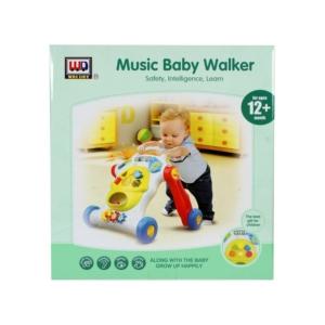 Zenélő bébi járássegítő