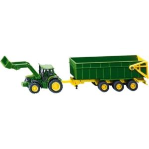 John Deere traktor utánfutóval