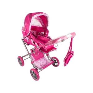 Mély táskás babakocsi - pink