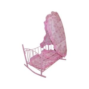 Baldachinos babaágy - rózsaszín - 9349 -