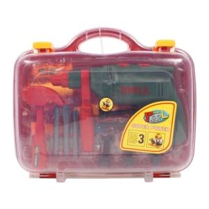 Fúrógép és szerszám készlet bőröndben -0704K222-