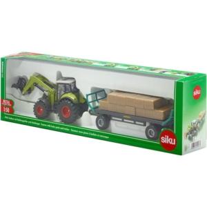 SIKU Claas traktor utánfutóval 1:50