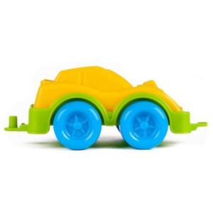 Műanyag sportautó - sárga, 11 cm