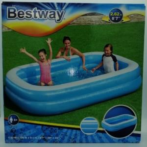 Bestway_RJ 54006 - Szögletes családi medence - 262 x 175 x 51 cm
