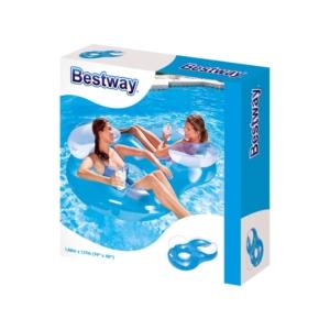 Bestway 43009 Dupla úszófotel - 118 x 117 cm