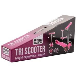 Háromkerekű roller fékkel - pink