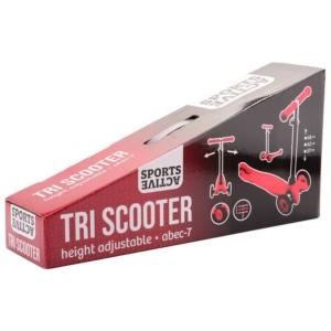 Háromkerekű roller fékkel - piros