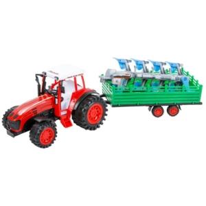 Traktor ekével és utánfutóval - 52 cm, többféle