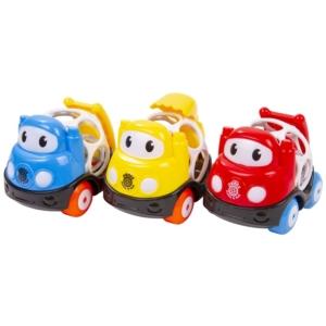 Csörgő autó bébijáték - 10 cm