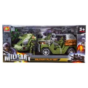 Katonai terepjáró és helikopter játékkészlet