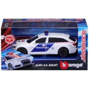 Bburago_RJ Audi A6 szirénázó magyar rendőrautó 1:43