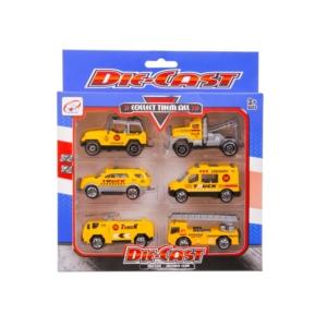 Die-Cast Fém munkagépek, 6 db /csomag