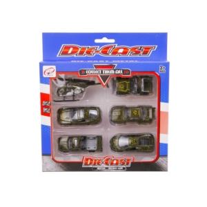 Die-Cast Fém katonai járművek, 6 db /csomag