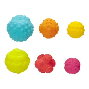 Érzékfejlesztő labda 6 darabos készlet
