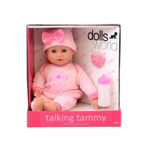Beszélő és alvó puha baba