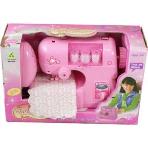 Rózsaszín varrógép.