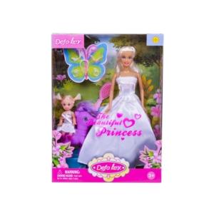 Defa Lucy hercegnő baba kislánnyal és pónival
