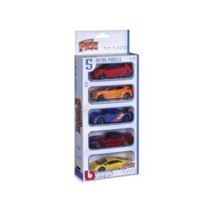 Bburago_RJ Street Fire kisautó 5 db-os csomag 1:43 -18-30005-