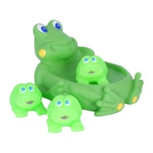 Műanyag fürdőjáték - béka család