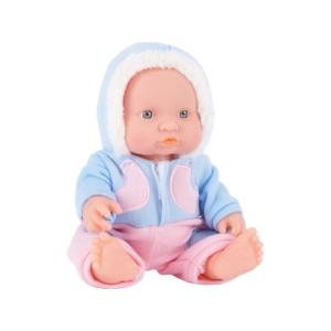 Játékbaba téli ruhában - 24 cm