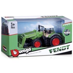 Bburago traktor emelővel New Holland /Fendt 10 cm
