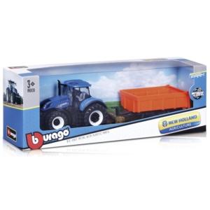 Bburago traktor emelővel New Holland T7-315 10 cm