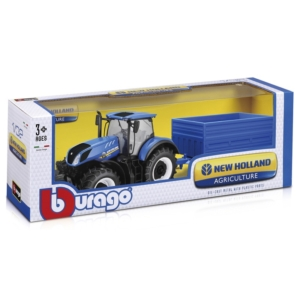 Bburago_RJ traktor utánfutóval New Holland 1:32