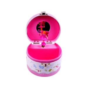 Félkör alakú zenélő ékszerdoboz, hercegnős -PC-016-