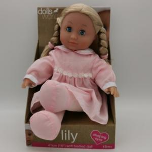 Lily puha játékbaba